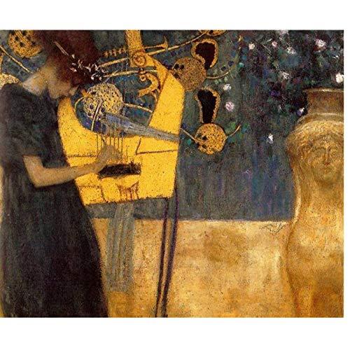 ASLKUYT Enorme Gustav Klimt Giclee Print Canvas Wall Art Decor Poster Pintura al óleo Impresión en lienzo Envío gratis-24x36 IN Sin marco