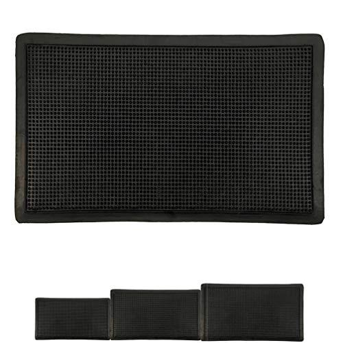 LucaHome – Felpudo Goma Picos Entrada casa para Exterior o Interior, Felpudo con púas Rectangular Antideslizante con Picos para facilitar la Limpieza del Calzado, Felpudo de Color Negro (30 x 55 cm)