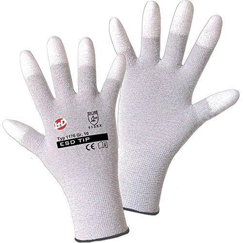 Worky 1170 ESD poliammide/Carbon-PU (Punta delle dita) guanto a maglie fini Gr.9 poliammide/Carbon con rivestimento i