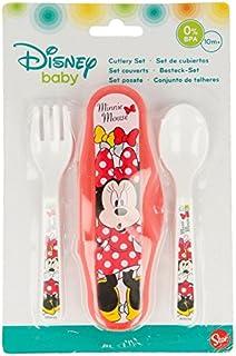 Minnie et Mickey Style b/éb/é Vaisselle Cuill/ère et fourchette D/éfinit pour b/éb/é enfants Couverts Taille M Mickey