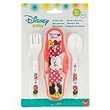 Générique - Set de Couvert Plastique pour Bebe avec Sa Boite de Rangement Minnie Disney - Fourchette Cuillere Repas - 146