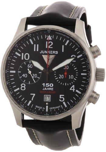 Junkers Herren-Armbanduhr XL 150 Jahre Hugo Chronograph Quarz Leder 66142