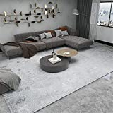 Kunsen tapetes para Sala Diseño Simple Beige Gris alfombras Lavables Alfombra Grande 160X200cm