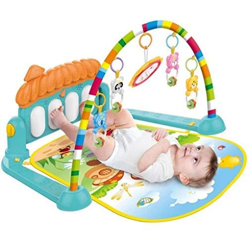 ZHJIUXINGZD Baby Gym Play Mat, Kick and Play Piano Gym, Baby Foot Piano con Música Y Luces Gimnasio De Actividades para Regalo De Bebé