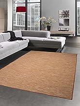 Alfombra de cocina Alfombra de interior Alfombra de exterior utilizable en ambos lados terra anaranjado moteado Größe 60x100 cm