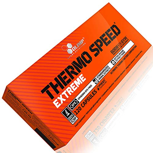 Thermo Speed Extreme 120 Capsules | Thermogenic Fat Burner Weight Loss | Slimming Pills for Fast Fat Tissue Reduction