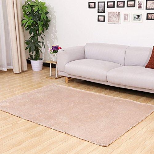 JIAO DE Verdickung waschbarer Seidenteppich Rutschfester Teppich Wohnzimmer Couchtisch Schlafzimmerbett Yogamatte Teppiche (Color : A, Size : 160x230cm)