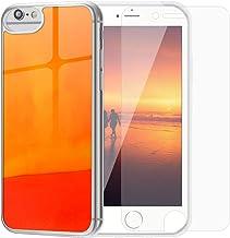 SanLead iPhone Case Quicksand Liquid Noctilucent iPhone case Shock-Absorbing Fall-Resistant and Leak-Proof TPU&PC for iPhone [Noctilucent] (for New iPhoneSE/iPhone 6/6s/7/8, Orange & Red)