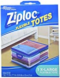 Ziploc Storage Bags for Clothes, Flexible Totes for Easy and Convenient Storage, 1 XL Bag, Pack of 4 (4 Total Bags)