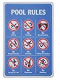 Monifith Poolregeln-Schild 'No Diving No Pushing No Running No Peeing for Commercial Swimming Pools Hof-Schilder 20,3 x 30,5 cm