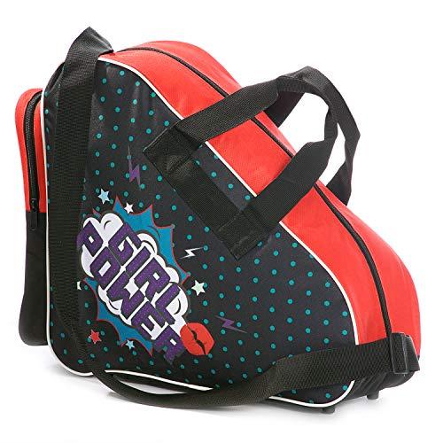 Sherwood Unisex Girl Power SHERWOOD Schlittschuhtasche mit Henkeln I Inliner Tasche I Eishockey Bag Reisverschluss prak, Girlpower, 36X16x36 EU