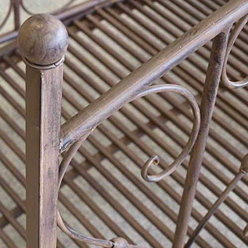 Gartenbrücke aus Metall mit Geländer - 7