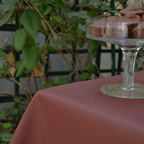 Nappe Carrée anti-tache imperméable 160x160cm Uni Chocolat par Fleur de Soleil - coton enduit - sans solvant - sans phtalate - 100% fabrication française
