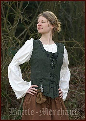 Battle Merchant Guêpière Gilet en Coton Vert Taille S – XL – Guêpière, Costume Guêpière