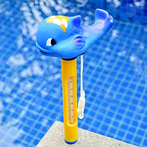 TuToy Carton Animal Baby Bad Zwembad Spa Drijvende Tub Thermometer Water Temperatuur Meter, Blauwe Walvis, 1