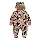 DDY Bebé recién Nacido niño niña Traje de Nieve Mameluco de algodón Infantil Onesies Mono con Capucha Ropa de Invierno Trajes de Camuflaje CAM (0-18 M