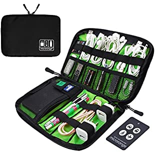 Visenta Cable Organizer Case Portable Case Easy Universal Carry Travel Organizer Bag Electronics Accessories Bag Phone Charger Case for Electronic Computer Cell Phone iPad Accessories USB Cables Power Banks Hard Disk (BlackSML):Kostenlosefilme