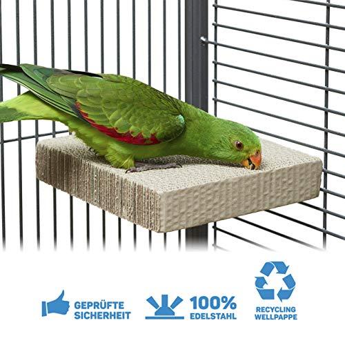 HappyBird ® | Kartonnen traktatieblok | Verscheurde hoekbank van golfkarton GROOT | ongeveer 20 x 20 x 4 cm