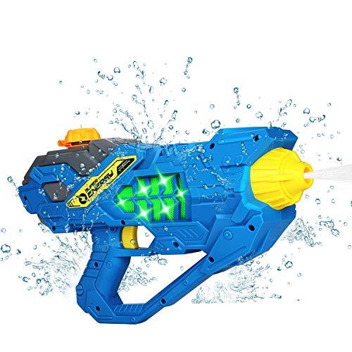 MagoFeliz Pistola de agua eléctrica, 450 ml, juguete para niños, pistola de...