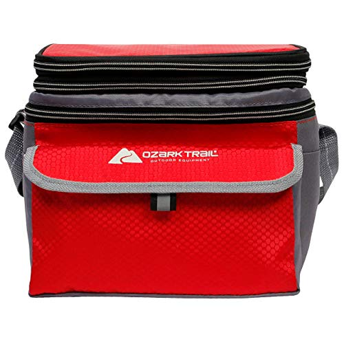 Ozark Trail 6 Can Cooler with Expandable Top - Red