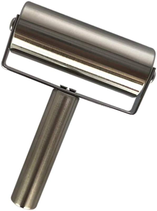 T Sleek Stainless Steel Roller Pin Pastry Pizza Baker Roller Pin Metal For Baking Dough Pizza Pie Pastries Pasta Cookies And Fondant Large 4 64in