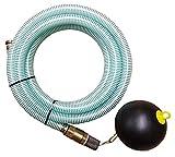 Brunnenandi Saugschlauch 1' versch. Längen_-=-_ für Elektropumpen Hauswasserwerk, Hauswasserautomat fördern aus Brunnen o. Regentonne geeignet_-=-_ Saugschläuche + Schwimmerventil -=-...