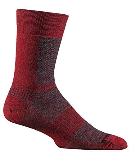 Wrightsock Merino Coolmesh Crew Red Sport Socks Size : 41.5-45