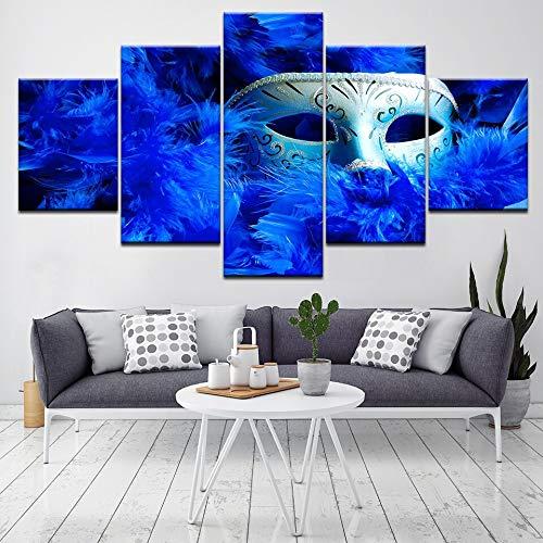 ZSYNB 5 aufeinanderfolgende Gemälde Zarte mysteriöse Schönheit 5 Stück HD Wallpapers Kunst Leinwand drucken Moderne Poster Modulare Kunst Malerei Wohnzimmer Home Decor Kein Rahmen