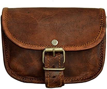 Leather Bumbag Belt Pouch Purse Vintage Leisure Weekend Practical Party Festival Handmade Brown product image