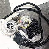 LnNcWcD Regulación de Velocidad eléctrica del sobrealimentador de Turbo Kit automático de Alta eficiencia y el Ahorro de energía Filtro de la Toma de Aire Mejorar la Velocidad del Coche