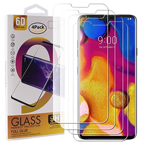 Guran 4 Stück GEH?rtetes Glas Bildschirmschutzfolie für LG V40 ThinQ Smartphone mit 9H H?RTE Panzerglasfolie Anti-Kratzer HD Klar Schutzfolie Film