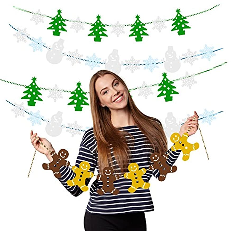 Treasures Gifted Christmas Decorations Hanging Banner Merry Bright Holiday Garland Sign Family Reunion Bunting Felt Fabric Wall Photo Props Let it Snow Wonderland Ornaments