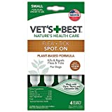 Vet's Best Flea and Tick Spot-on Drops | Topical Flea Treatment Drops for Dogs | Flea Killer with Certified Natural Oils | 4 Month Supply for Small Dogs