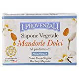 I Provenzali - Set de 12 jabones neutros perfumados de magnolia, 100 g cada uno