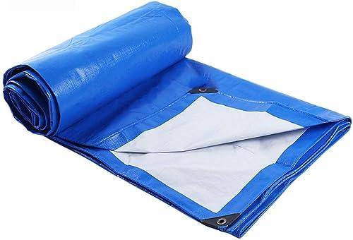 YHUJH Bache imperméable imperméable en Plastique Bleu et Blanc 5  6m