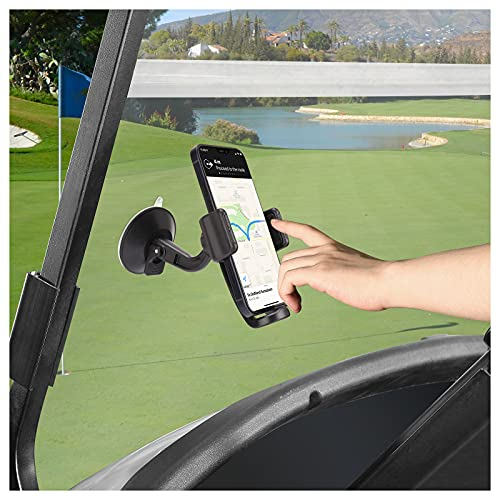 10L0L Golf Cart Phone Holder with Clamp, Anti-Slip Silicone Suction Cup Phone Holder Sucker Stand, Universal Cell Mount...