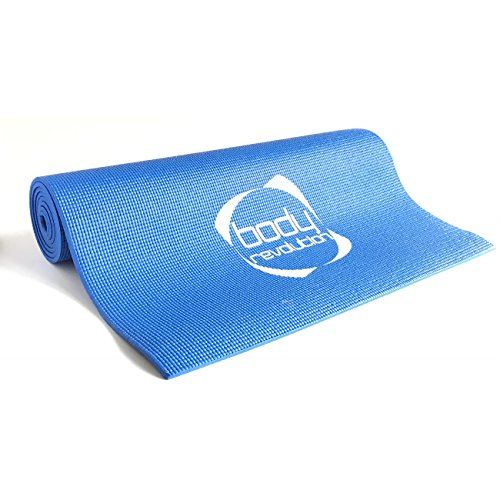 Body Revolution Non Slip Yoga Pilates Mat for Exercise Gymnastics in Blue Purple or...