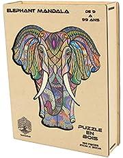 Puzzle en Bois Pour Adultes et Enfants, Puzzles en pièces d'animaux de forme unique, casse-tête en bois, Puzzle animal décoratif, développement intellectuel, Jouets d'apprentissage éducatif Montessori
