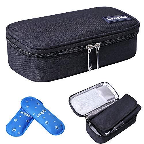 JAKAGO Insulin Cool Travel Case Waterdichte Draagbare Diabetische Medische Organiseer Tas met 2 Ice Pack Koeler Isolatie Liner voor Insulin Spuiten Pennen Flacons Glucose Meter