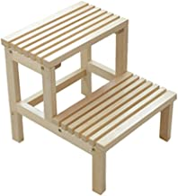 MLLZX Kick Stool,Step Stool Solid Wood Ladder Stool Multifunctional Double Ladder Stool Children Step Stool
