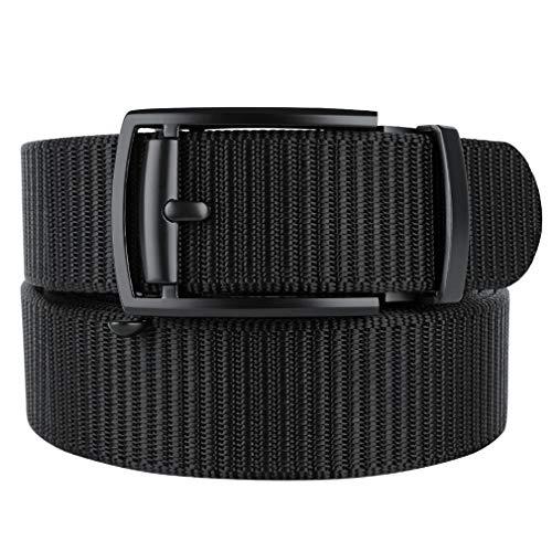 Bluecton Mens Belt Tactical Ratchet Automatic Slide Buckle...