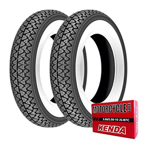 Paire de pneus Kenda K333 3.00-10 42J + chambres à air Vespa 50 Special