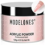 Modelones 4.23oz Nude Nail Acrylic Powder Natural Nude Color Nail Art Powder