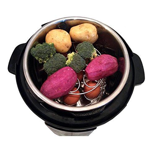 Stackable Egg Steamer Rack Compatible for Instant Pot Accessories / Vegetable Steam Rack for Pressure Cooker - Fits 5,6,8 qt Pressure Cookers