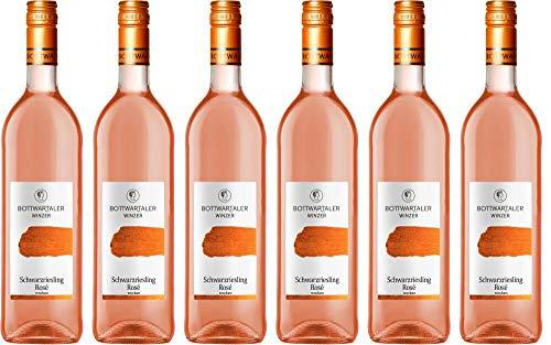 6x Basic Schwarzriesling Rosé trocken 2019 - Bottwartaler Winzer eG, Württemberg - Rosé