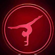 RJGOPL 3D LED 7 kleuren nachtlampjes usb tafellamp gymnastiecs motivement model slaapverlichting fixture decoratie gymnast...
