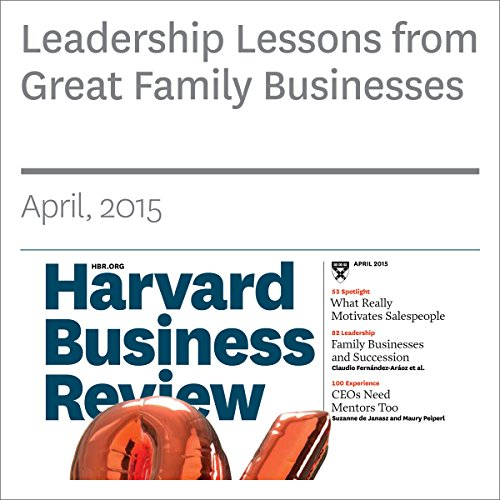 Leadership Lessons from Great Family Businesses audiobook cover art