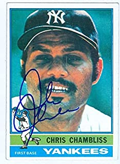Chris Chambliss autographed baseball card (New York Yankees) 1976 Topps #65 (67) - Autographed Baseball Cards