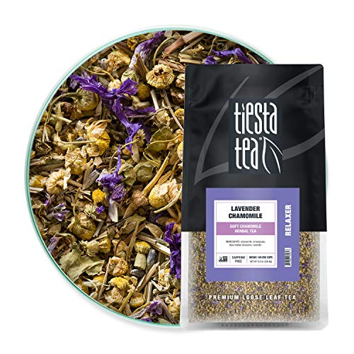 Tiesta Tea - Lavender Chamomile, Loose Leaf Soft Chamomile Herbal Tea, Non-Caffeinated, Hot & Iced Tea, 8 oz Bulk Bag - 200 Cups, Natural, Stress Relief & Health Support, Herbal Tea Loose Leaf