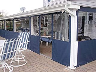 Waterproof Commercial Grade 0.5mm Vinyl Clear Awning Canopy Patio Enclosure (10x10ft.)